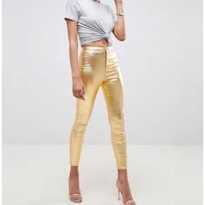 NWT ASOS Denim Gold Rivington Jeggings Size 25